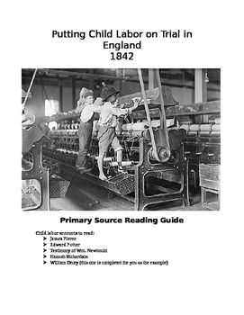 DBQ Child Labor in England - APEH - Modified for Practice (6 Docs)