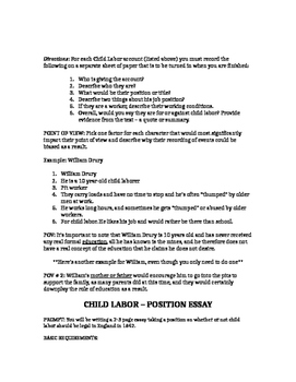 How To Write A Thesis Statement For An Essay  Examples Of English Essays also Essay About Learning English Dbq Child Labor In England  Apeh  Modified For Practice  Docs Buy Essay Paper