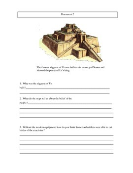 DBQ Comparing Mesopotamia and Egypt
