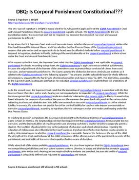 DBQ- Corporal Punishment & the 8th Amendment