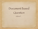 DBQ Debrief - To Accompany Released 2009 AP World DBQ