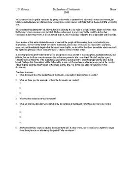 DBQ - Declaration of Sentiments