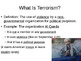 DBQ Discussion on Colonial America and Terrorism PowerPoint