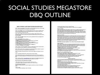 DBQ: Outline Writing Assistance Sheet