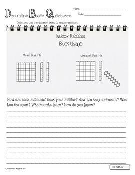 DBQ Document Based Questions - 4th Grade Math