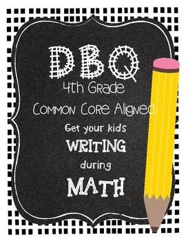 DBQ Document Based Questions for 4th Grade Math