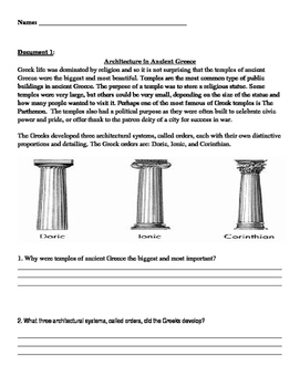 DBQ ESSAY Ancient Greece Document Based Questions and essay