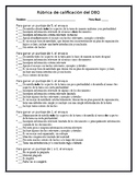 DBQ Essay Grading Rubric {Spanish Version} - Editable!