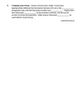 DBQ Essay Modeling - Word Bank Quiz