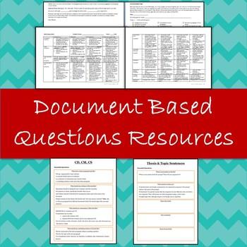 DBQ Essay Rubric, Document Analysis +  Essay Organization Resources
