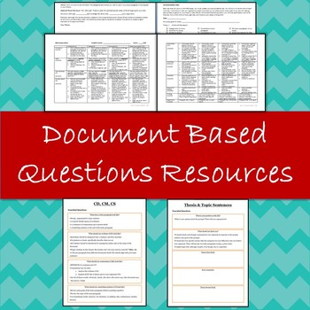 DBQ Essay Rubric, Document Analysis +  Essay Organization Resources