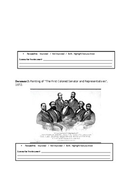 Reconstruction: The Lives of Freed Slaves -  DBQ