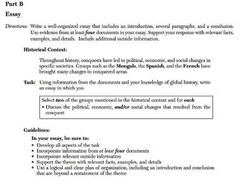 DBQ Graphic Organizer with Powerpoint Model