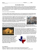 DBQ/Guided Reading on Annexation of Texas