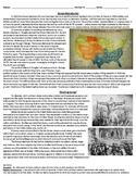DBQ/Guided Reading on Kansas-Nebraska Act/Bleeding Kansas