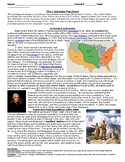 DBQ/Guided Reading on Louisiana Purchase