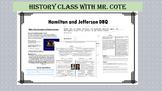 DBQ: Hamilton, Jefferson and Political Parties