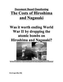 DBQ: Hiroshima and Nagasaki