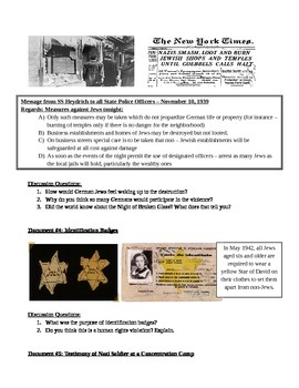 DBQ - Holocaust by Social Studies - Middle School ...
