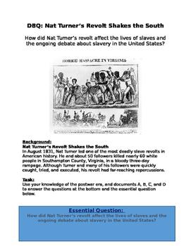 dbq how did nat turner s revolt affect slaves lives slavery  dbq how did nat turner s revolt affect slaves lives slavery debate slavery