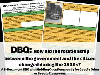 DBQ: How did the relationship between the government and the citizen?