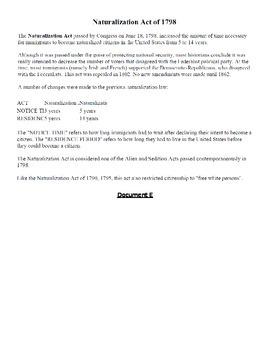 DBQ: Immigration in US-
