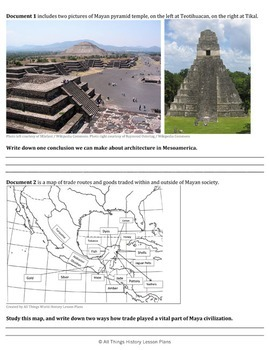 DBQ: Mesoamerican Societies Before European Arrival -Common Core State Standards