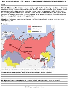DBQ: Nationalism, Industrialism and the Russian Empire-Common Core State St