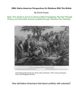 DBQ: Native American Perspectives On Relations With The British