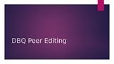 DBQ Peer Editing Power Point