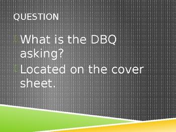 DBQ Process Notes