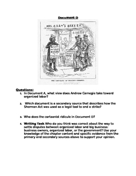 DBQ: Progressive Era Labor Unions: were labor unions successful?
