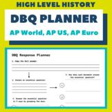 DBQ Response Planner (AP World, AP US, AP European)