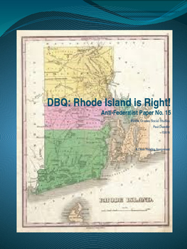 DBQ: Rhode Island is Right!