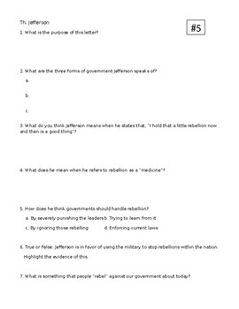 "DBQ - Shays' Rebellion: ""A Little Rebellion"" is a Good Thing?"