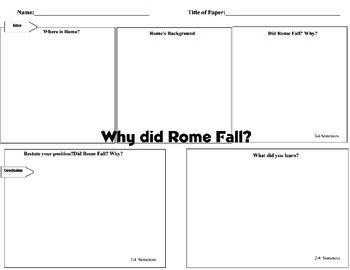 DBQ Supplemental Fall of Rome