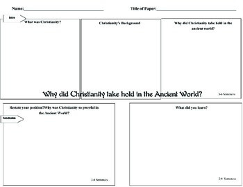 DBQ Supplemental Why did Christianity take over the ancient world?