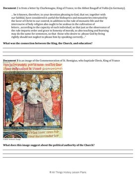 DBQ: The Authority of the Catholic Church During the Middle Ages - Common Core