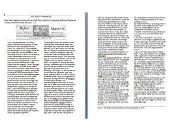 DBQ - The Boston Massacre report from the Boston Gazette 1770