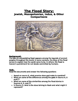 DBQ: The Flood Story: Jewish, Mesopotamian, Indus, & Other Comparisons