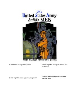 DBQ - WWI Propaganda - The US Army Builds Men