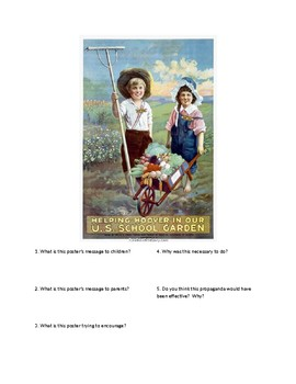 DBQ - WWI Propaganda: US School Garden