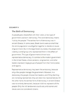 DBQ:  What is the best form of government?  Democracy, Republic or Oligarchy?