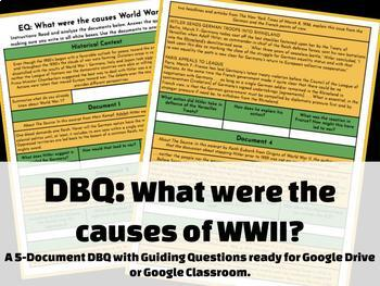 DBQ: What were the causes of World War II? GOOGLE DOCS & PDF