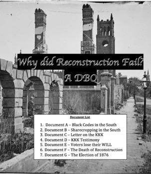 DBQ: Why did Reconstruction Fail?