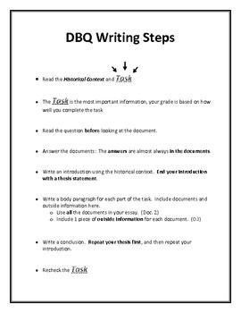 DBQ Writing Steps