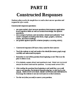 DBQ and Short Constructed Responses Social Studies
