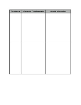 DBQ document organizer