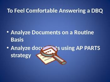 DBQ essay strategies