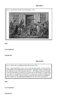 DBQ practice on Slavery Lesson Plan for APUSH
